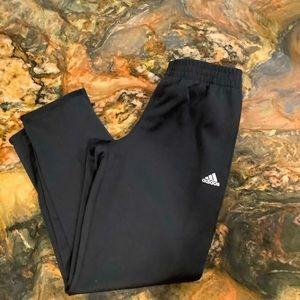 Adidas climalite black with white tri stripe 10/12